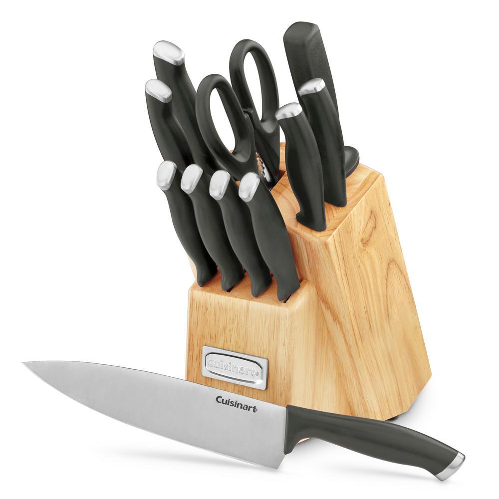 Cuisinart Color Pro Collection 12 Piece Black Cutlery Block Set