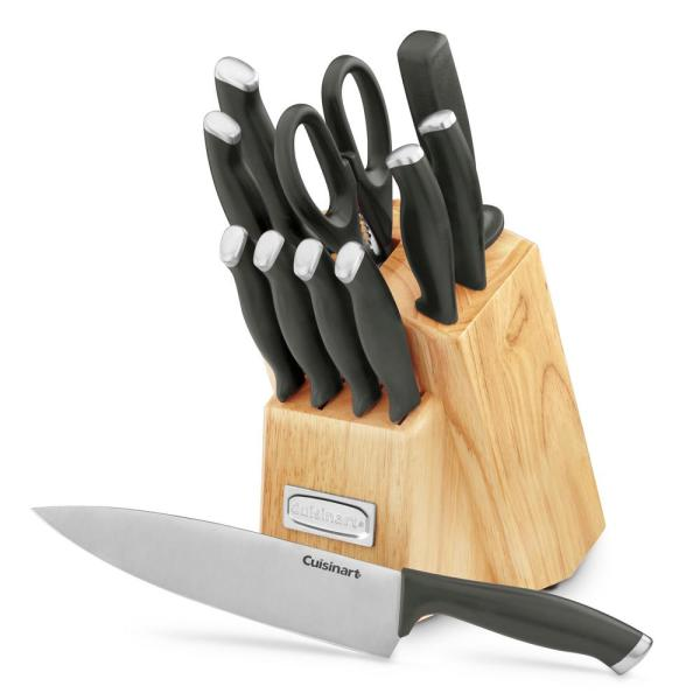 Cuisinart Color Pro Collection 12-Piece Black Cutlery Block Set C77SSB-12P