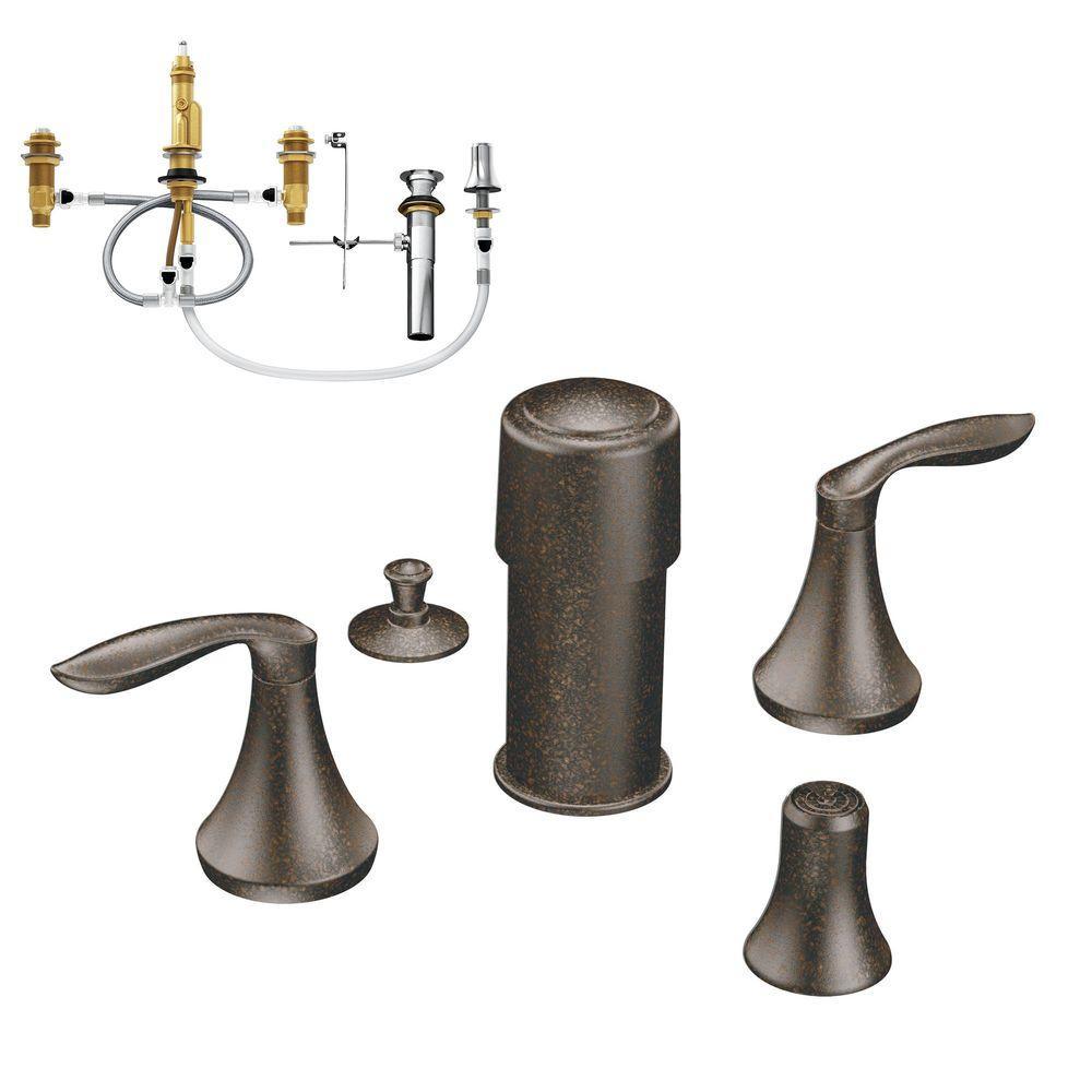Eva 2-Handle Bidet Faucet Trim Kit with Valve in Oil Rubbed Bronze