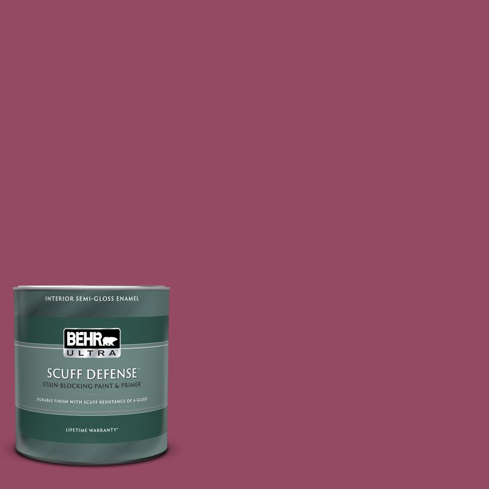 Behr Ultra 1 Qt P120 7 Glitterati Extra Durable Semi Gloss Enamel Interior Paint And Primer In One 375304 The Home Depot