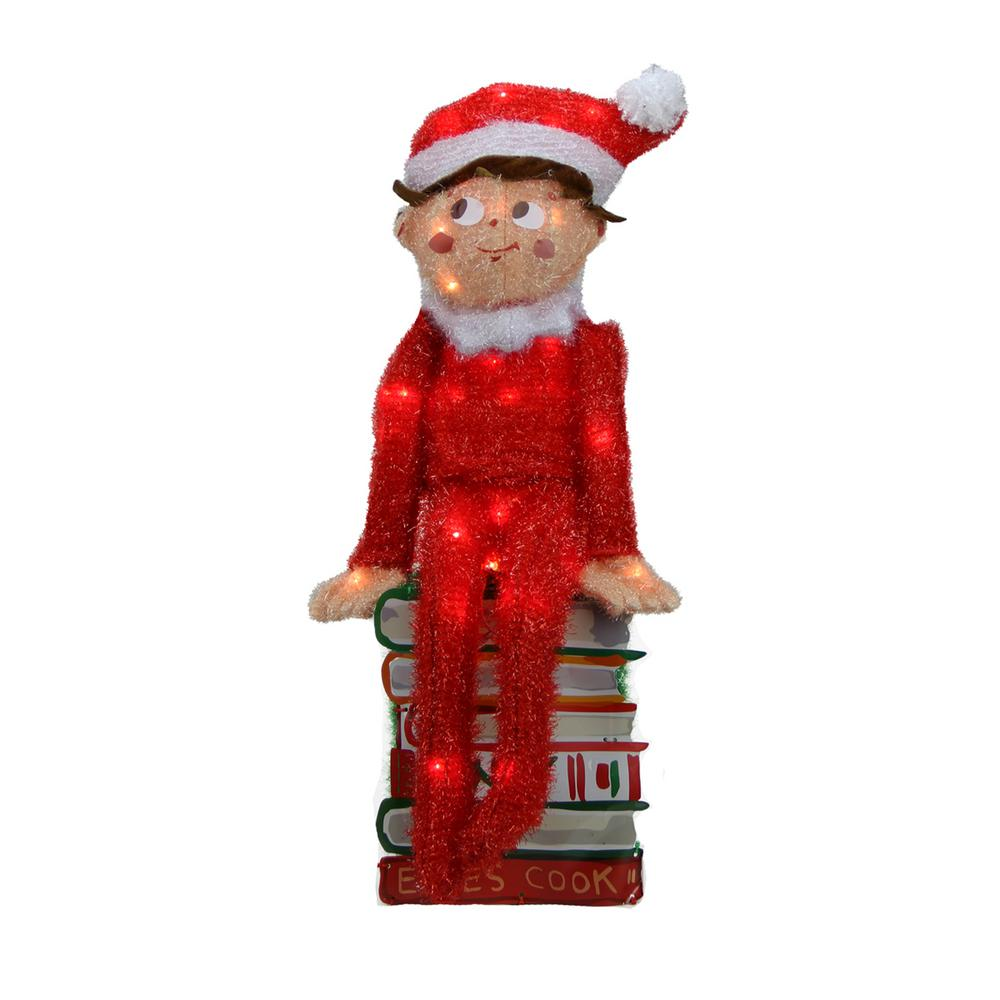 Product Works 24 in. Pre-Lit Elf on the Shelf 3-D Sitting Elf on ...