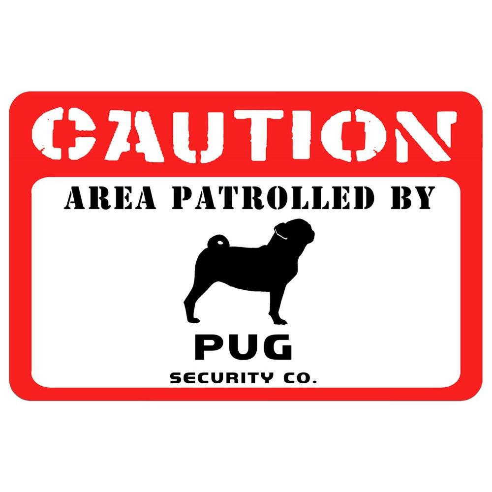 Printed Caution 17.5 in. x 26.5 in. Pug Mat