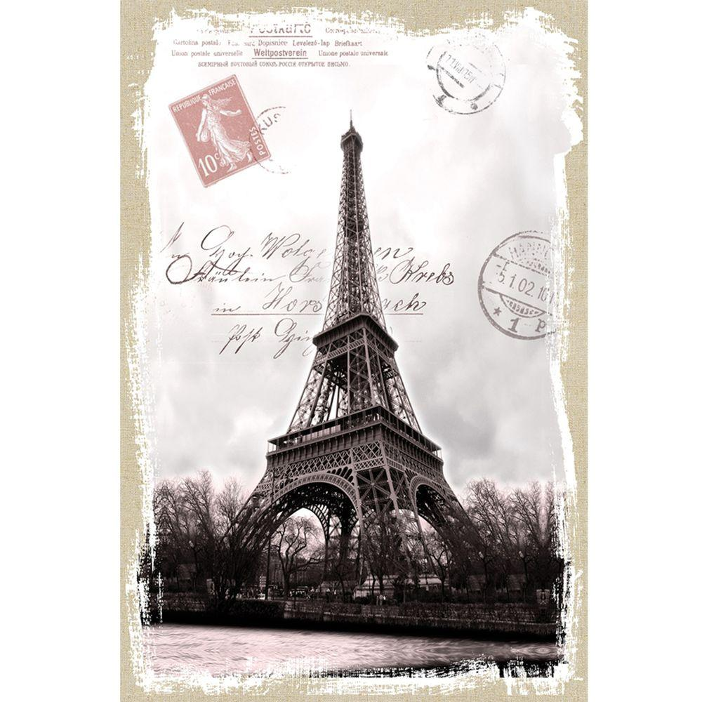 Yosemite Home Decor 16 in. x 24 in. Eifel Stamp Model Linen Prints Contemporary Artwork