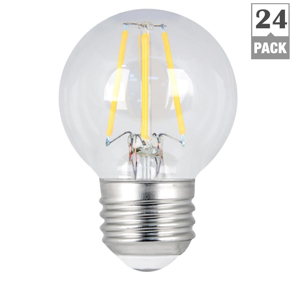 Feit Electric 60w Equivalent Soft White G16 5 Dimmable Clear Filament Led Medium Base Light Bulb