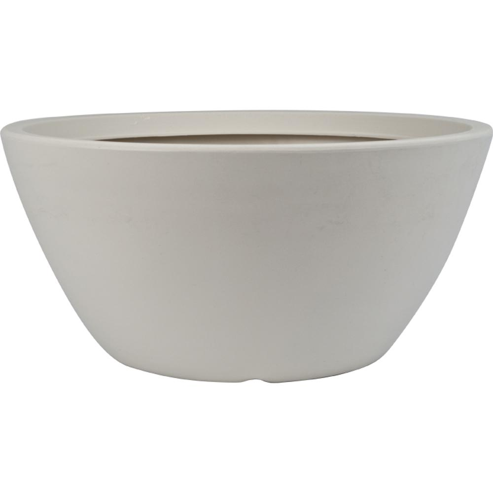 Attrayant Pride Garden Products Toscana 18.5 In. White Plastic Bowl Planter