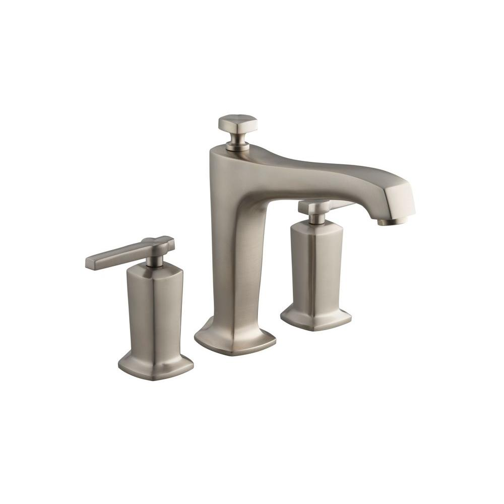 Margaux 2-Handle Deck-Mount High-Flow Bath Faucet Trim Kit in Vibrant Brushed