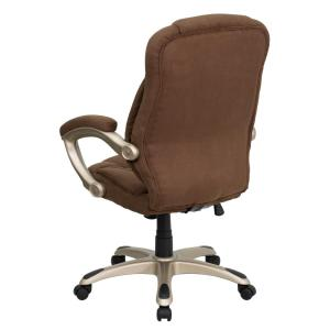 Flash Furniture High Back Brown Microfiber Contemporary Executive