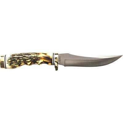 Uncle Henry 5 in. Golden Spike Rat Tail Tang Fixed Blade Knife