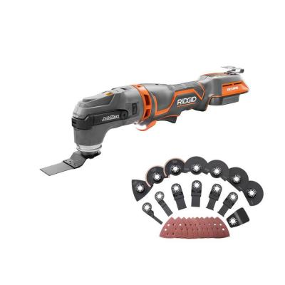 18-Volt OCTANE Cordless Brushless JobMax Multi-Tool with JobMax Oscillating Multi-Tool Blade Accessory Kit
