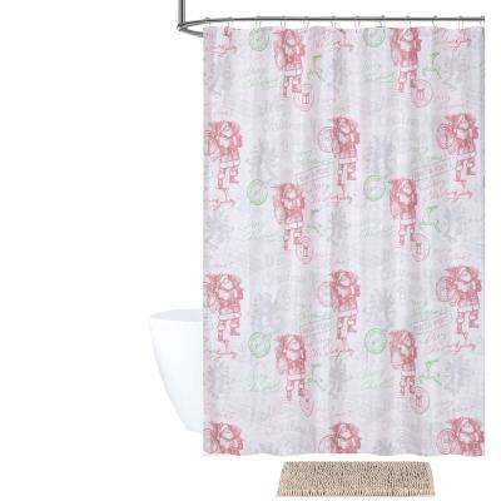 Dear Santa Shower Curtain and Bath Rug Set (14-Piece)