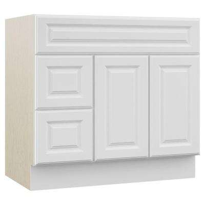 Cambridge 36 in. W x 21.5 in. D x 33.5 in. H Bath Vanity Cabinet Only with Drawers on Left in White