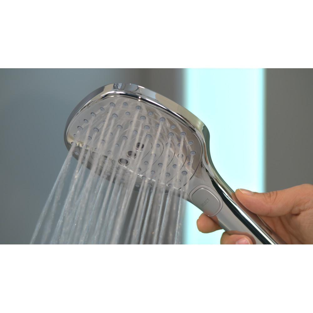 3-Spray 4.8 in. Single Wall Mount Handheld Rain Shower Head in Brushed Nickel