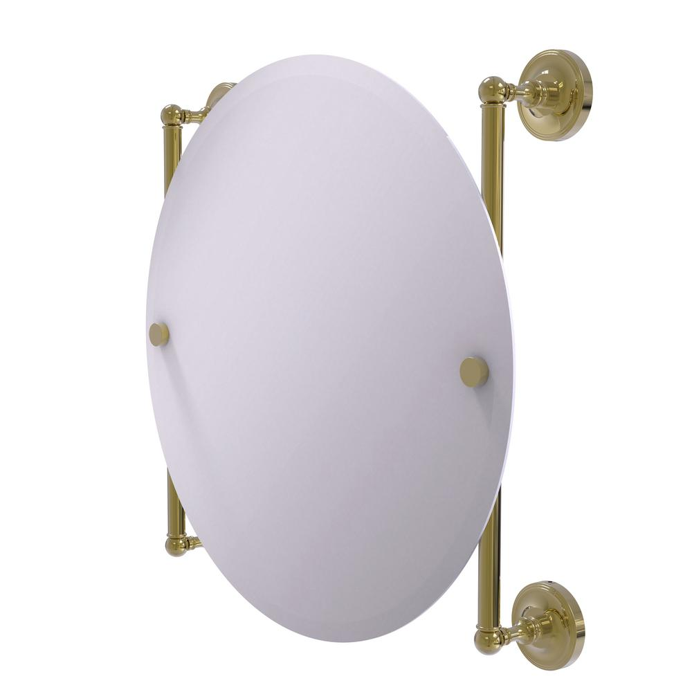 Prestige Regal Collection Round Frameless Rail Mounted Mirror in Unlacquered