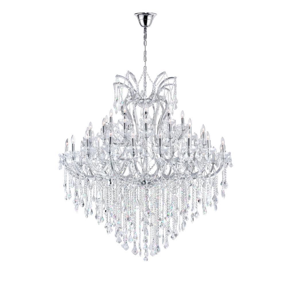 Maria Theresa 55-light chrome chandelier