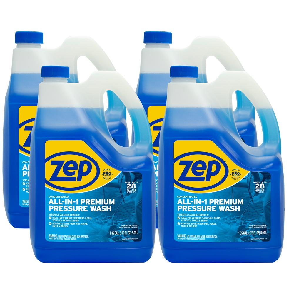 ZEP 172 oz. All-in-1 Pressure Wash Concentrate (Case of 4)