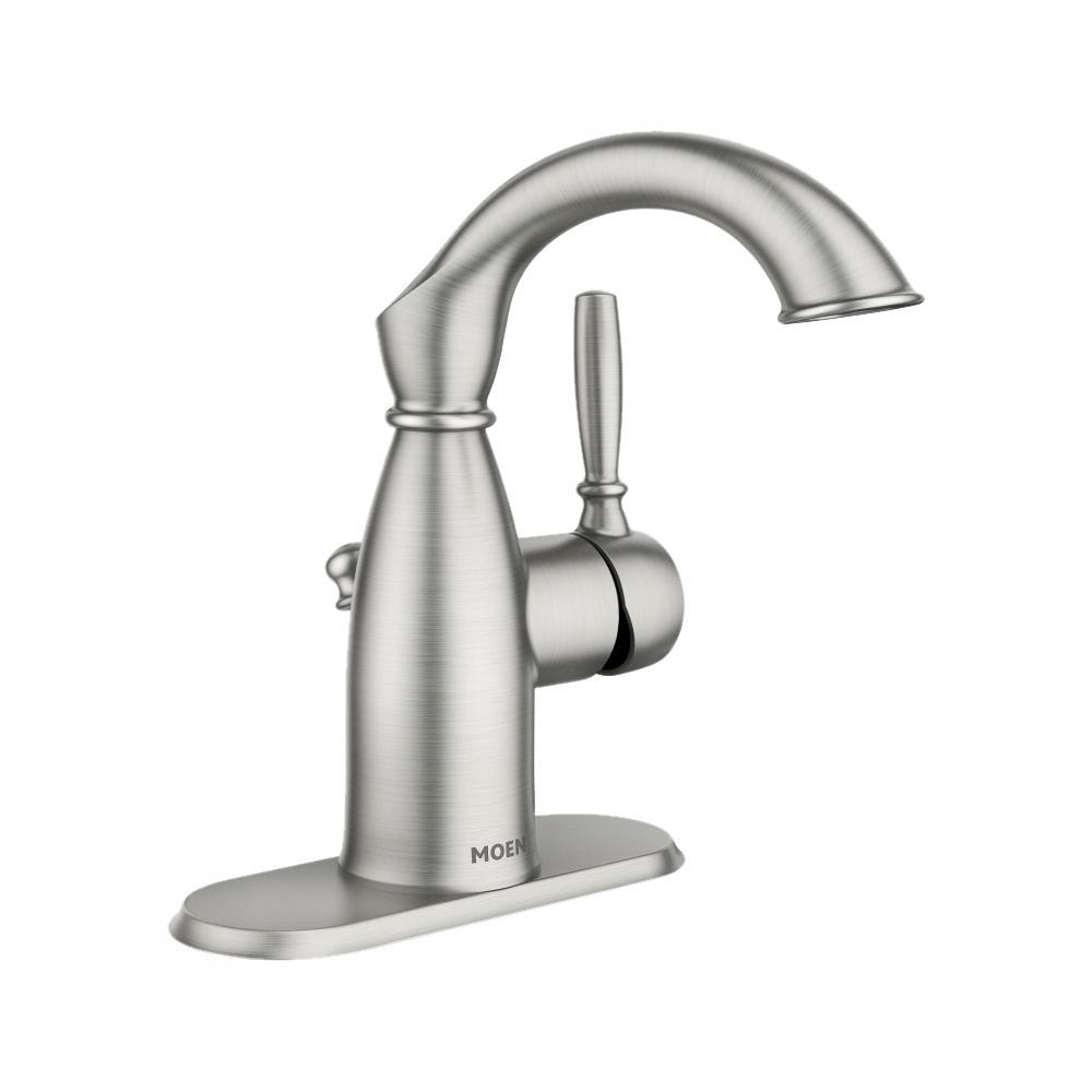 Sarona 4 in. Centerset Single-Handle Bathroom Faucet in Spot Resist Brushed Nickel