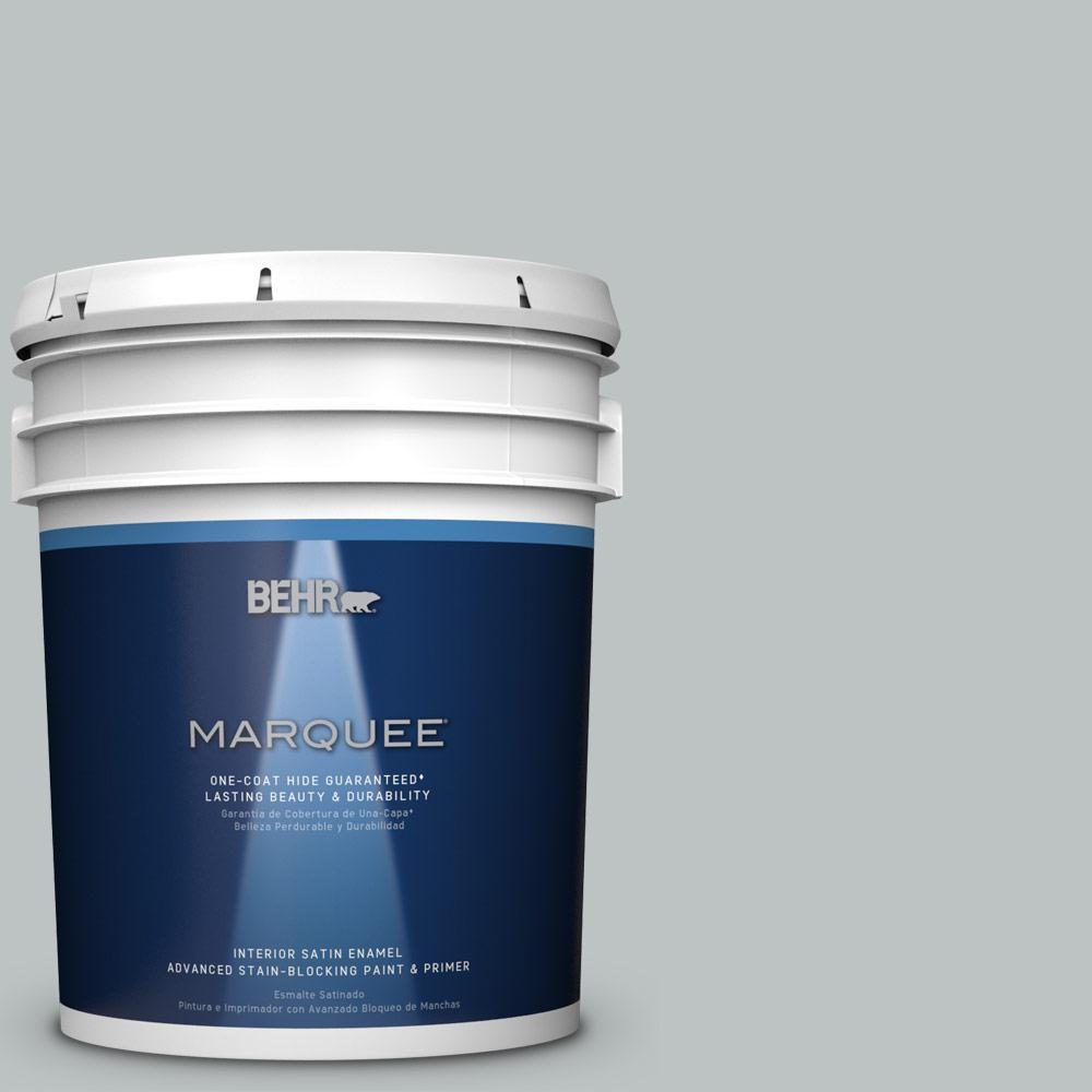 5 gal. #PPU26-18 Silver Mine Satin Enamel Interior Paint