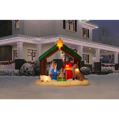 6.5 ft. LED Inflatable Nativity Scene