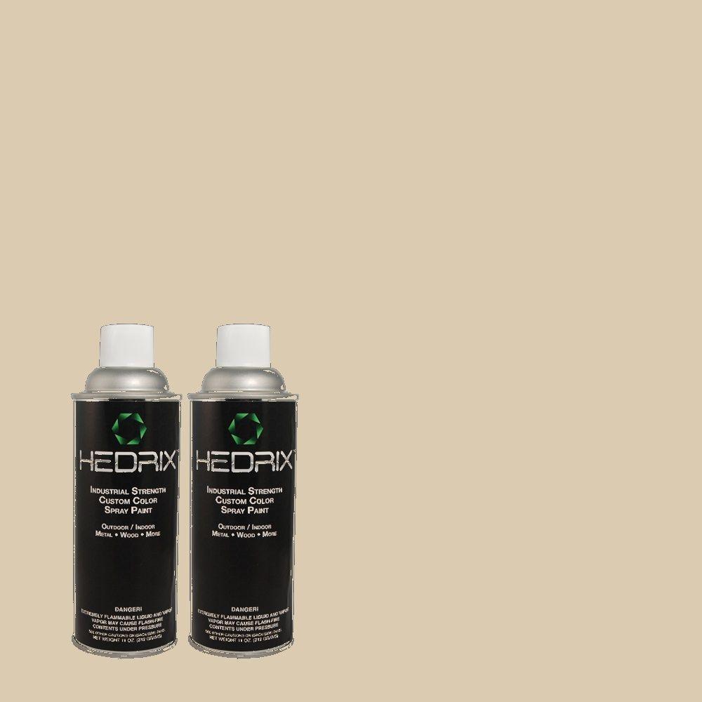 Hedrix 11 oz. Match of MQ3-10 French Beige Gloss Custom Spray Paint (2-Pack)