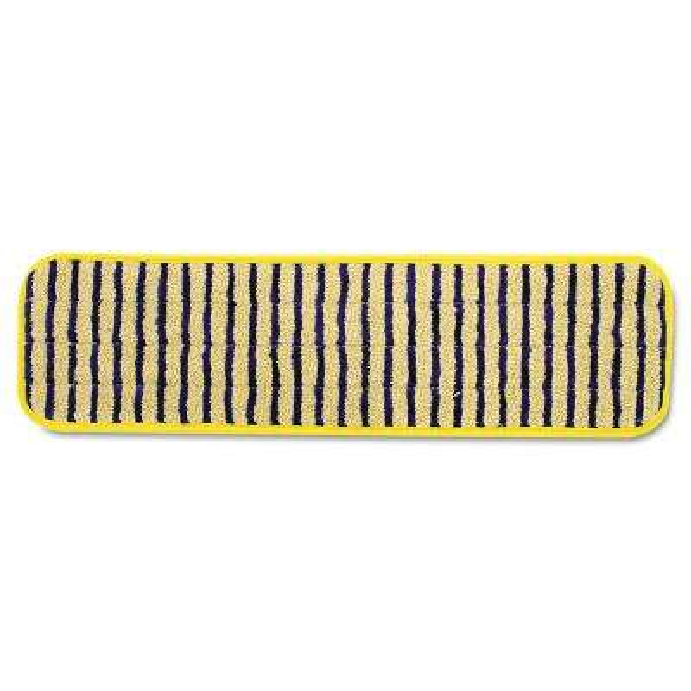 HYGEN 18 in. Microfiber Scrubber Mop Pads (Case of 6)