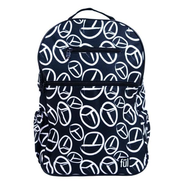 Ful Black Peace Sign Accra Fashion Laptop Backpack ABFL5796HM-001