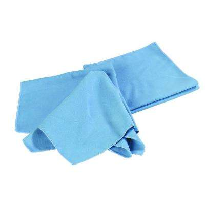 16 in. x 16 in. Microfiber Fine Polishing Cloth in Blue (Case of 12)