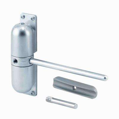 Safety Spring Door Closer, Satin Chrome