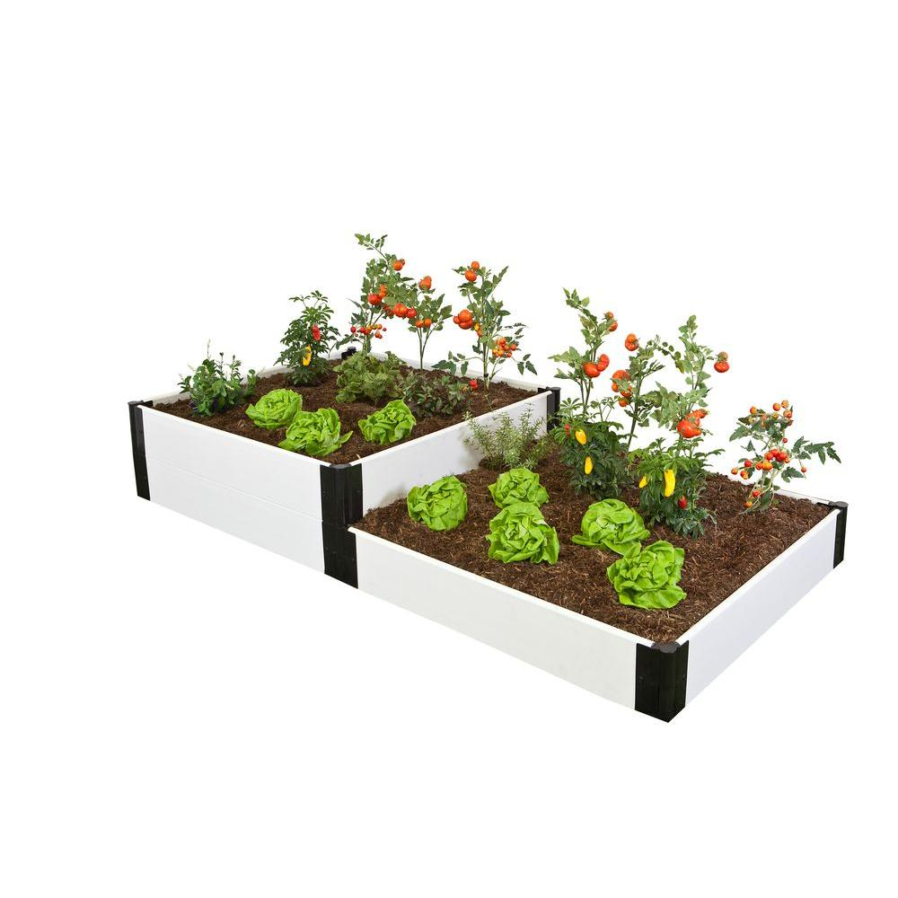 Frame It All Classic White Two Stepper Raised Garden Bed-DISCONTINUED
