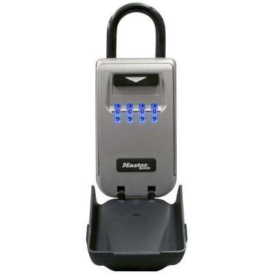 SafeSpace Portable Light-Up Dial Lock Box with Removable Shackle