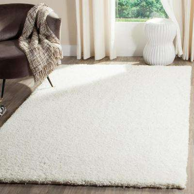 Reno Shag White 6 Ft. 7 In. X 9 Ft. 2 In.