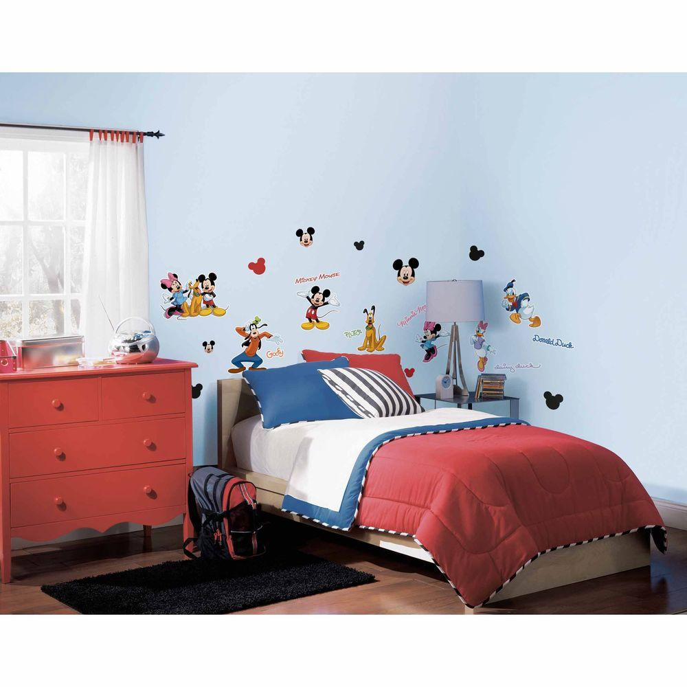 Mickey and Friends Peel and Stick Wall Decals  sc 1 st  Home Depot & Wall Decals - Wall Decor - The Home Depot