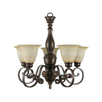 Carina 5-Light Aged Bronze Chandelier