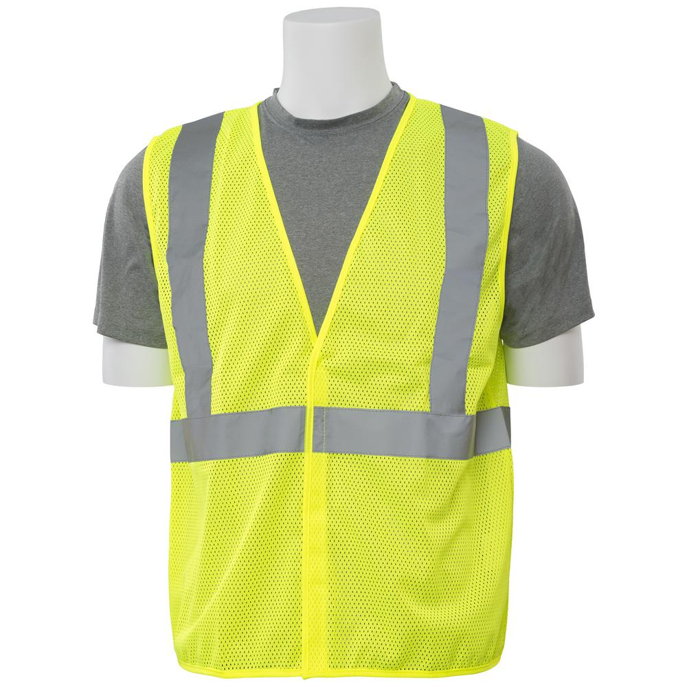 S362 L Class 2 Economy Poly Mesh Hi-Viz Lime Vest
