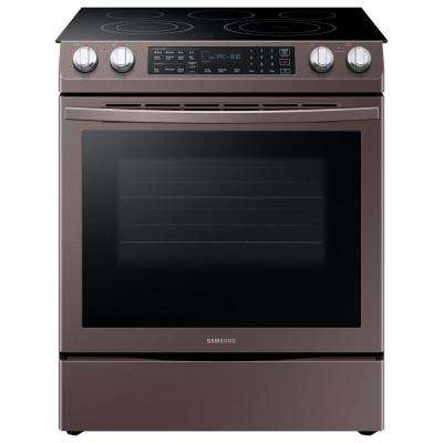 5.8 cu. ft. Slide-In Electric Range with Self-Cleaning Dual Convection Oven in Tuscan Stainless Steel