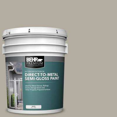 5 gal. #PPU18-13 Perfect Taupe Semi-Gloss Direct to Metal Interior/Exterior Paint
