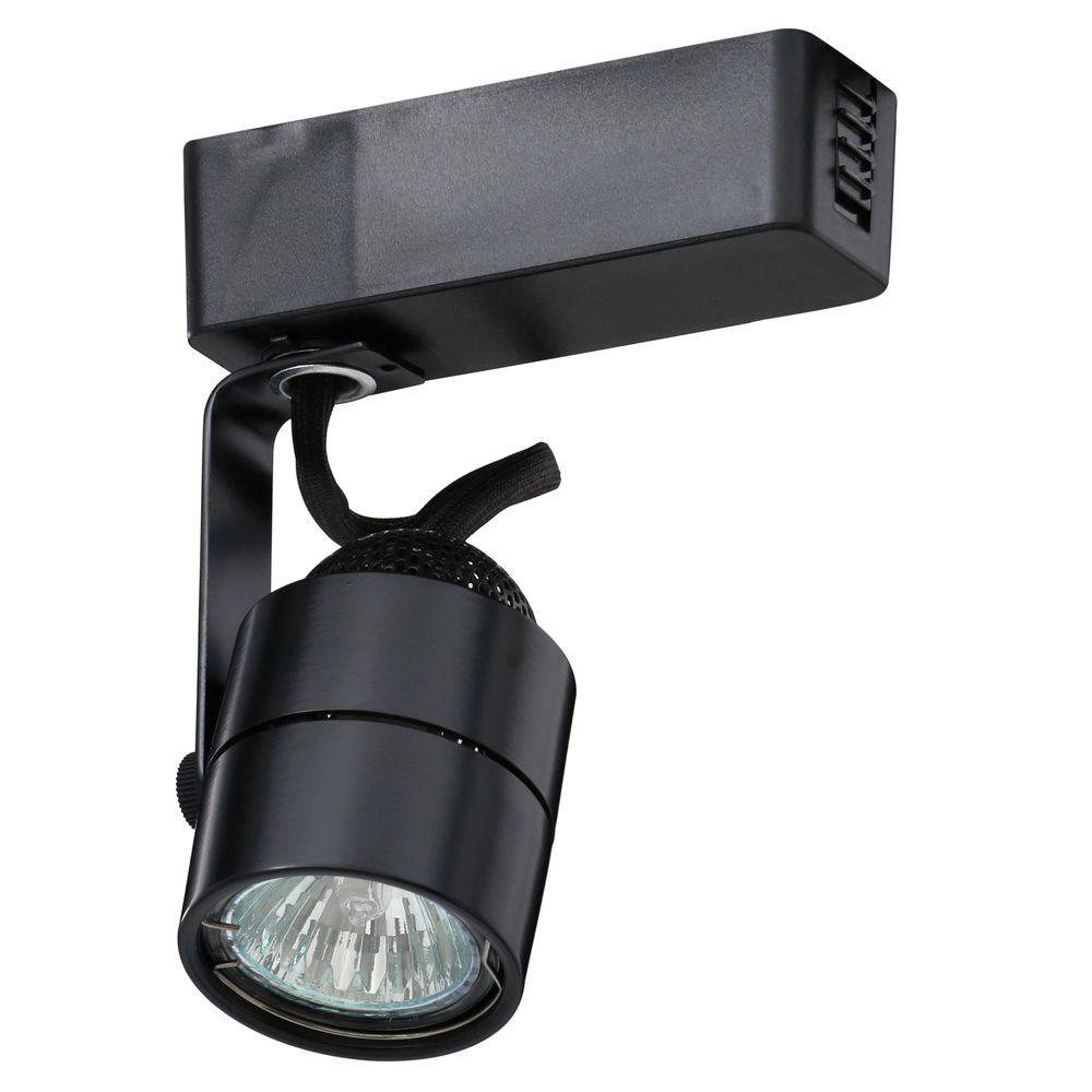Trac-Lites Low-Voltage Black Cylinder Light
