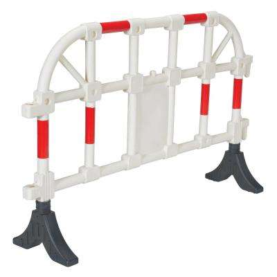 64 in. x  40 in. x 3 in. White Plastic Handrail Barrier