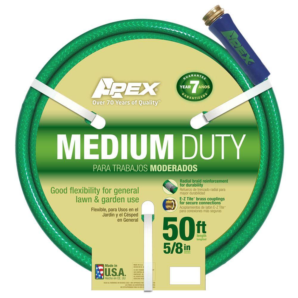 Apex 5/8 in. Dia x 50 ft. Medium Duty Water Hose