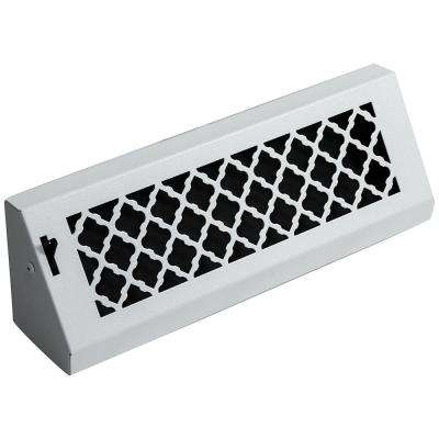 Tuscan, 15 in., White/Powder Coat, Steel Baseboard Vent with Damper