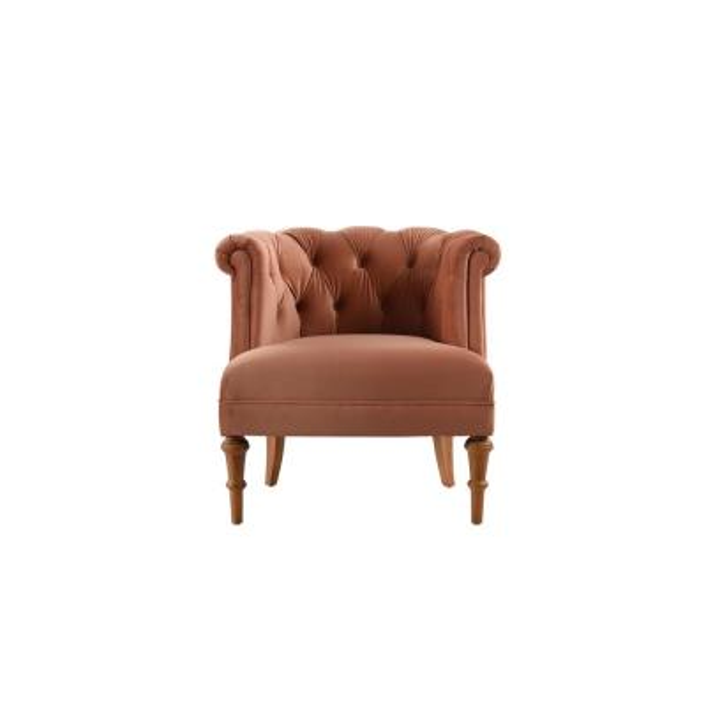 Katherine Orange Tufted Accent Chair