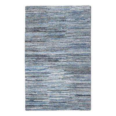 Fame Blue and White 8 ft. x 10 ft. Area Rug