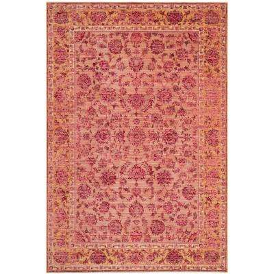 Valencia Pink/Multi 9 ft. x 12 ft. Area Rug