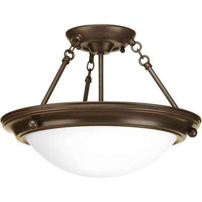Eclipse 2-Light Antique Bronze Semi-Flushmount