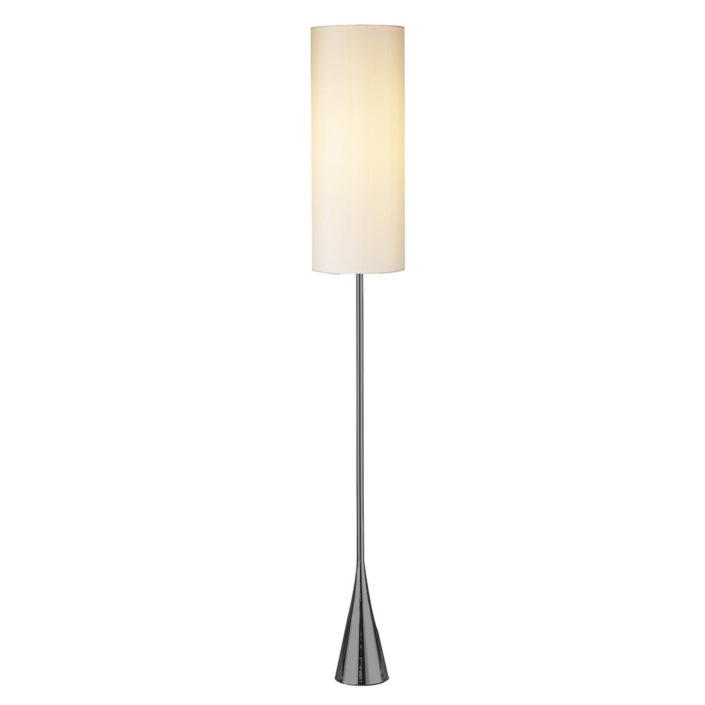 Adesso Bella 74 in. H Black Nickel Floor Lamp