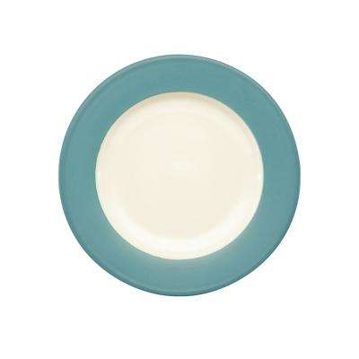 Colorwave 8.25 in. Turquoise Rim Salad Plate