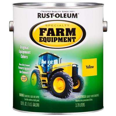 1 gal. Farm Equipment John Deere Yellow Gloss Enamel Paint (2-Pack)