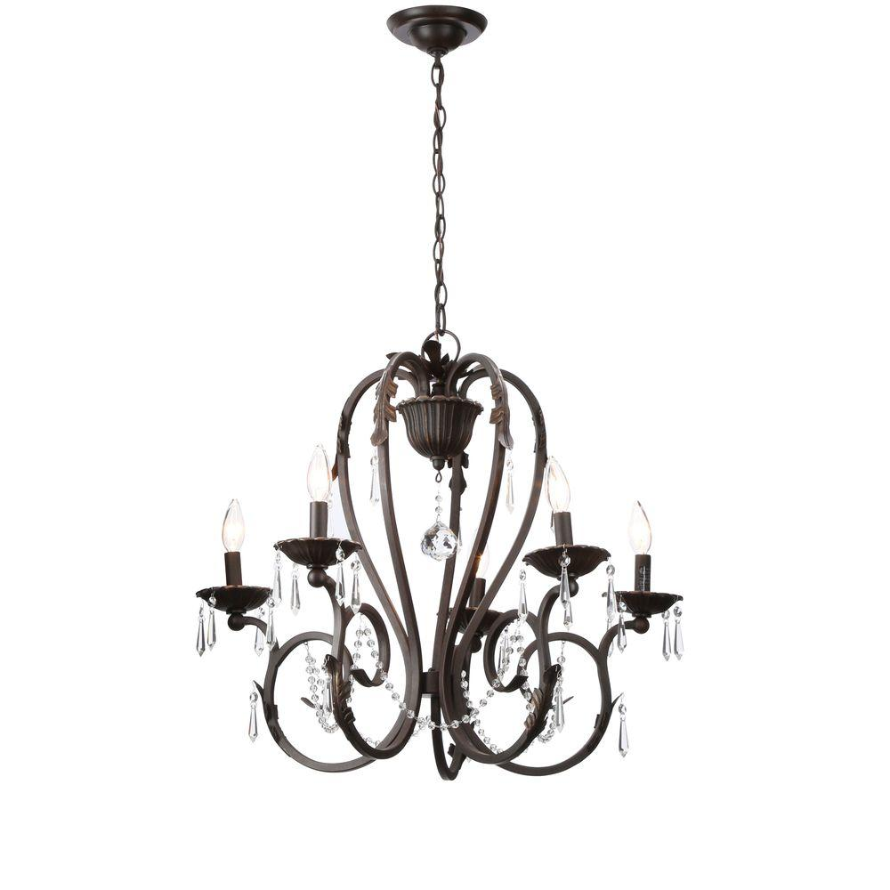 Madison 5-Light Bronze Chandelier