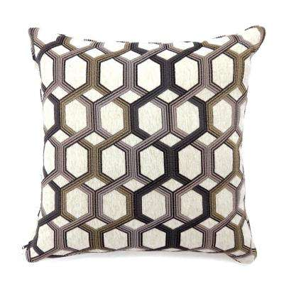 Comney 18 in. Contemporary Standard Throw Pillow in Grey