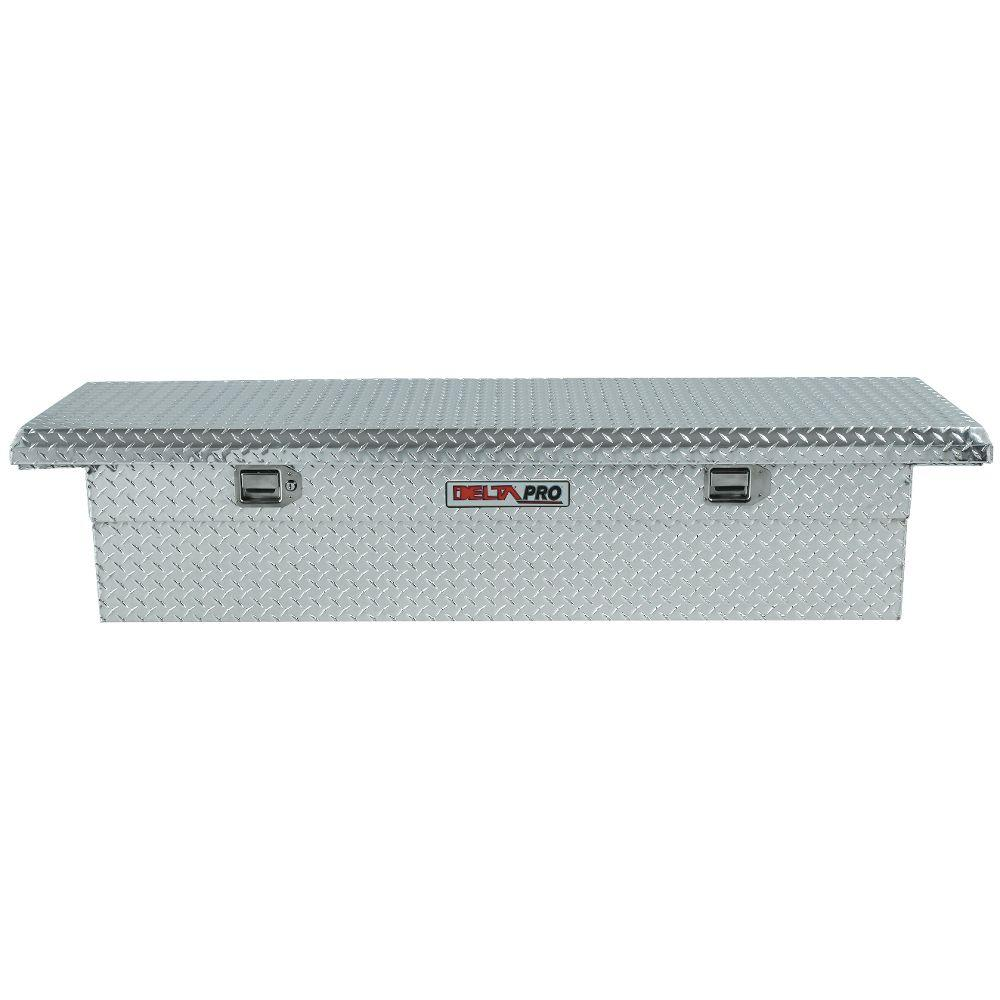 Delta 71.125 in. Aluminum Single Lid Low-Profile Full Size Crossover Tool Box in Bright