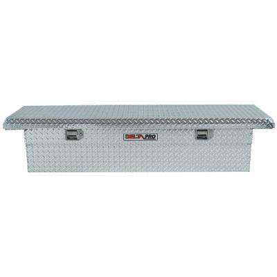 71.125 in. Aluminum Single Lid Low-Profile Full Size Crossover Tool Box in Bright